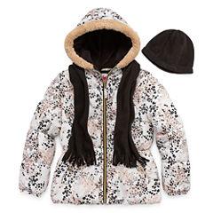 Pink Platinum Heavyweight Animal Puffer Jacket - Girls-Big Kid