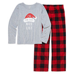 North Pole trading Co. Checkin it Twice Microfleece Famly Pajama Set - Girls