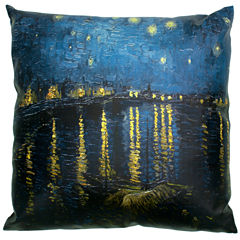 Oriental Furniture Van Gogh Over The Rhone Throw Pillow