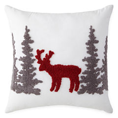 North Pole Trading Company Holiday Deer Pillow