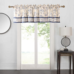 Barefoot Bungalow Saffi Blue Elephant Rod-Pocket Tailored Valance