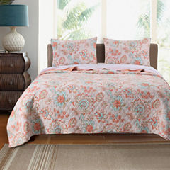 Barefoot Bungalow Cordelia Floral Quilt Set