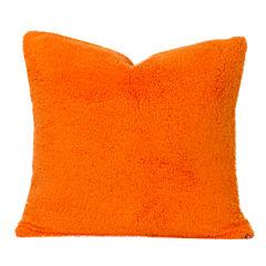 Crayola Playful Plush Outrageous Orange Throw Pillow