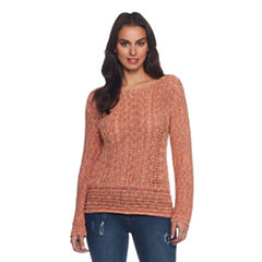 Skyes The Limit Sullivan County Long Sleeve Boat Neck Pullover Sweater-Plus