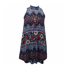 Bonnie Jean Sleeveless Pattern A-Line Dress - Big Kid Girls