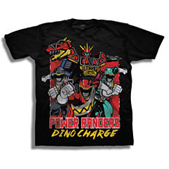 Short Sleeve Power Rangers T-Shirt-Preschool Boys