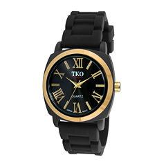 TKO ORLOGI Milano III Womens Black Silicone Strap Watch