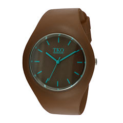 TKO ORLOGI Candy II Brown Silicone Strap Sport Watch