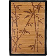 Oriental Furniture Bamboo Tree Rectangular Rugs