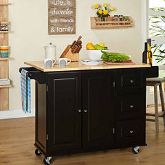 Sundance Wood-Top Kitchen Cart