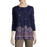 Liz Claiborne 3/4 Sleeve Henley Shirt