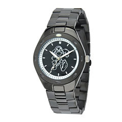 Disney Grumpy Mens Black Stainless Steel Watch
