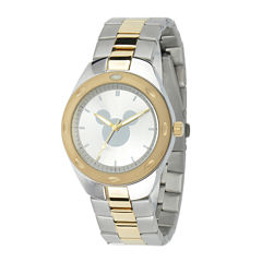 Disney Mickey Mouse Mens Two-Tone Stainless Steel Watch