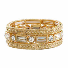 Natasha 3-pc. Crystal Gold-Tone Stretch Bracelet Set