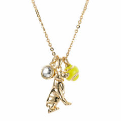 Pet Friends Gold-Tone Dog Pendant Necklace