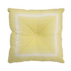 Waverly Paisley Verveine Tufted Stripe Square Decorative Pillow