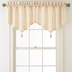 Royal Velvet® Plaza Thermal Interlined Rod-Pocket Ascot Valance