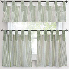 Park B. Smith Ticking Stripe Kitchen Curtains