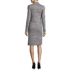 Worthington Long Sleeve Shift Dress