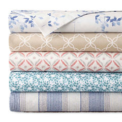 JCPenney Home™ 300tc 100% Cotton Ultra Soft Print Sheet Set