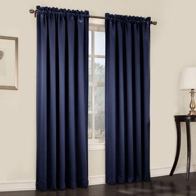 Sun Zero™ Emory 2 Pack Room Darkening Rod Pocket Curtain Panels