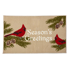 North Pole Trading Co. Season's Greetings Rectangular Rug