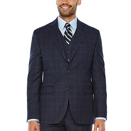 Stafford Plaid Classic Fit Suit Jacket
