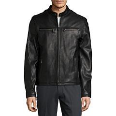 Dockers® Leather Bomber Jacket