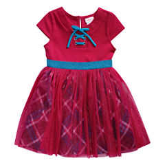 Young Land Short Sleeve Tutu Dress - Toddler Girls