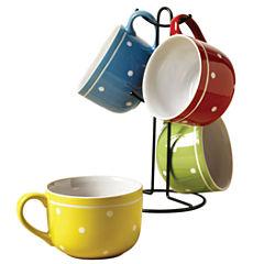 Tabletops Unlimited Polka Dot 5-pc. Coffee Mug