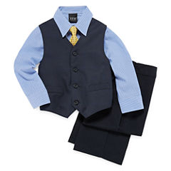 Deco Plaid 4-pc. Vest Set - Boys 4-10