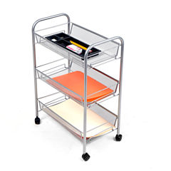 Mind Reader ' Roll ' Rolling 3 shelf cart