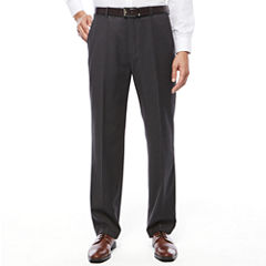Stafford Travel Wool Blend Stretch Flat Front Suit Pants-Classic Fit