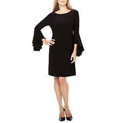 Ronni Nicole 3/4 Bell Sleeve Shift Dress