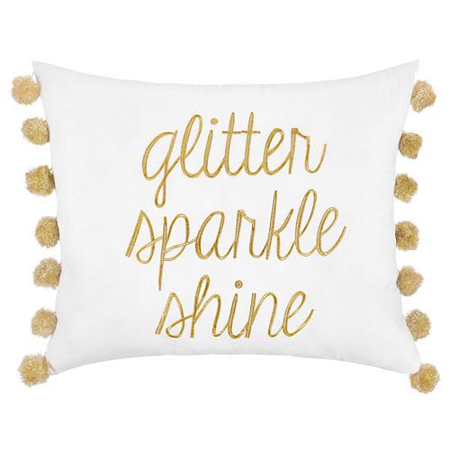 Frank And Lulu Glitter Sparkle Shine Rectangular Throw Pillow