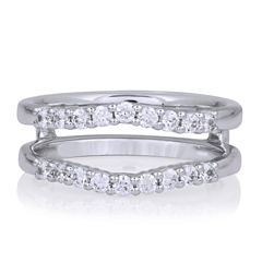 Womens 1/2 CT. T.W. Genuine White Diamond 14K Gold Ring Enhancer