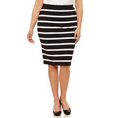 Liz Claiborne Slim Ponte Pencil Skirt-Plus (26