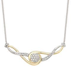 1/5 CT. T.W. White Diamond Statement Necklace