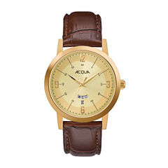Timex Acqua By Timex Mens Brown Strap Watch-Aa3c792009j
