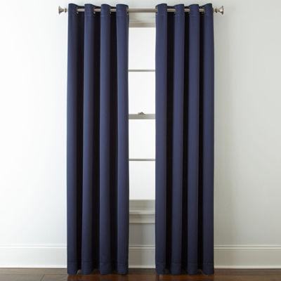liz claiborne kathryn grommettop curtain panel