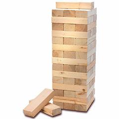 American Vintage Jumbo Sized Block Stacking Game