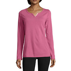Sjb Active Long Sleeve Velvet Trim T-Shirt
