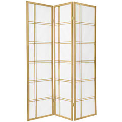 Oriental Furniture 6' Double Cross Shoji Special Edition 3 Panel Room Divider