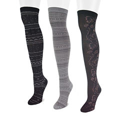 MUK LUKS® 3-pk. Microfiber Over The Knee Socks