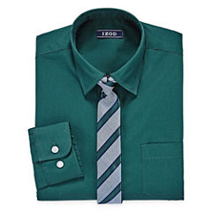 IZOD Shirt + Tie Set - 8-20 Boys