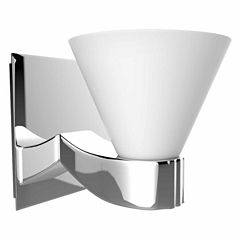 American Imaginations 5.25-in. W Square Brass WallMount Wall Sconce In Chrome Color