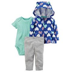 Carter's 3-pc. Stripe Pant Set Baby Girls