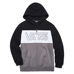 Vans Fleece Zip Hoodie-Big Kid Boys