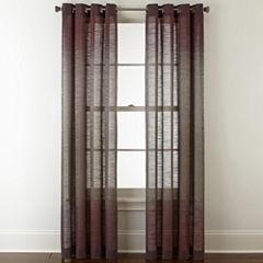 Studio Delano Grommet-Top Sheer Curtain Panel