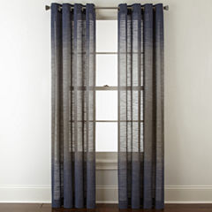 Studio Delano Grommet-Top Sheer Curtain Panel